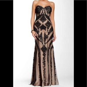 La Femme sweetheart lace gown